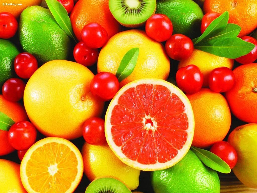 رنگ میوه ها
