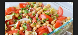 سالاد نخود و گوجه فرنگی رژیمی