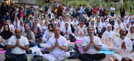 همایش استانی روزجهانی یوگا در پارک ملل ساری
