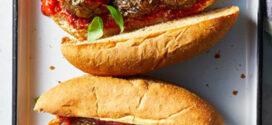 همبرگر رژیمی بادمجان و قارچ